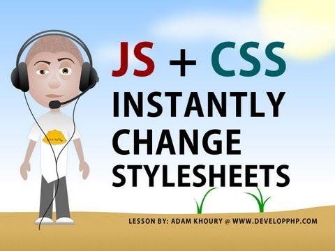 Stil Sayfası Javascript Öğretici Css Takas Stil Sayfası Kullanarak Değiştirme