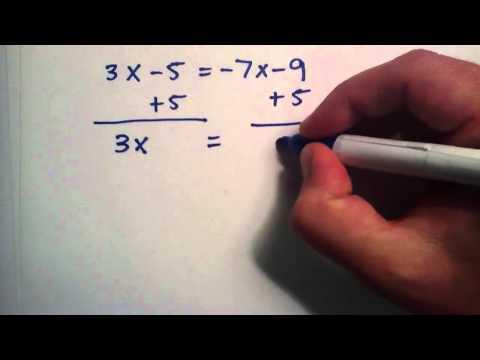 Nasıl Tek Değişken İfadeler Çözmek İçin: Part 2