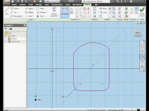 Autodesk Inventor Video Eğitimi - İnşaat Geometri Nedir? Video-Tutorials.net Tarafından
