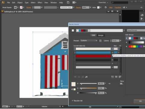Illustrator-İzleme Ve Canlı İzleme Ve Kuler Renk
