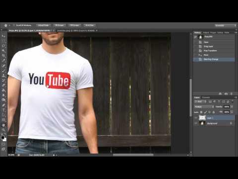 Nasıl Bir T-Shirt (Hd) Photoshop Öğretici Bir Grafik Yerleştirmek İçin