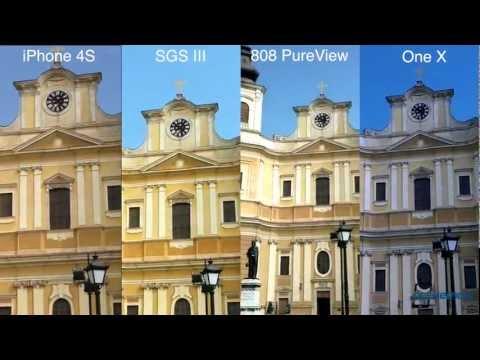 Apple İphone 4S Samsung Galaxy S Iıı Vs Nokia 808 Pureview Vs Htc Bir X: Video Shootout Vs