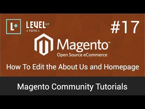 Magento Topluluk Öğreticiler #17 - Nasıl Düzen İçin Bize Ve Ana Sayfası Hakkında