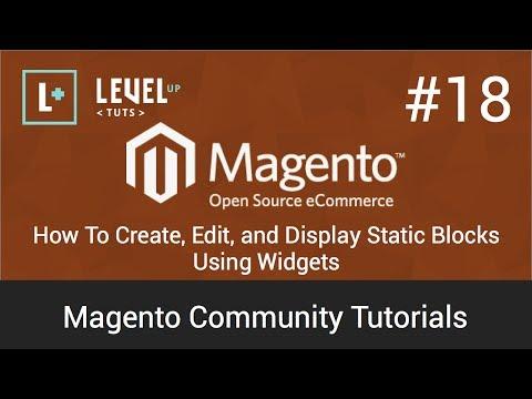 Magento Topluluk Öğreticiler #18 - Oluştur, Düzenle Ve Statik Görüntülemek Nasıl Widget'lar Kullanma Engeller