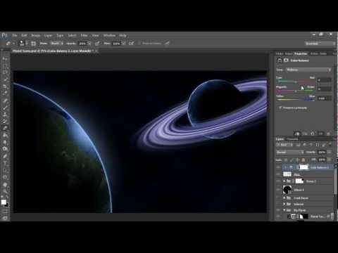 Nasıl Bir Gezegen Halkaları (Hd) Photoshop Eğitimi İle Yapmak