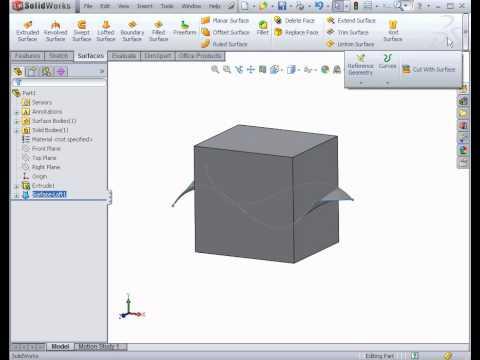 Acemi Yüzey Tasarım Solıdworks Öğreticileri Yüzey Tasarım Ve Modelleme
