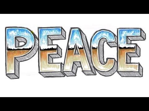 Barış 3D - Çizmeyi 3D Blok Harfler Barış İle Krom Harf Etkisi