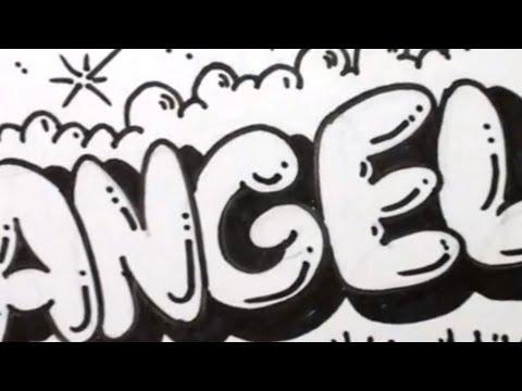 Kabarcık Mektup - Angela Grafiti Harfler Çizmek İçin Nasıl
