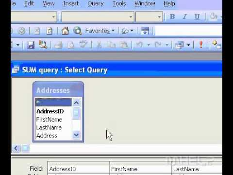 Microsoft Office Access 2003 Sum İşlevi