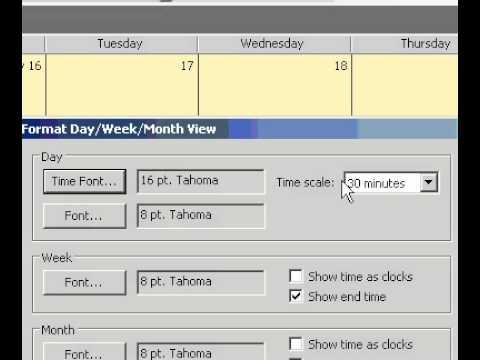 Microsoft Office Outlook 2003 Değişim Gün Hafta Ya Da Ay Görünümü