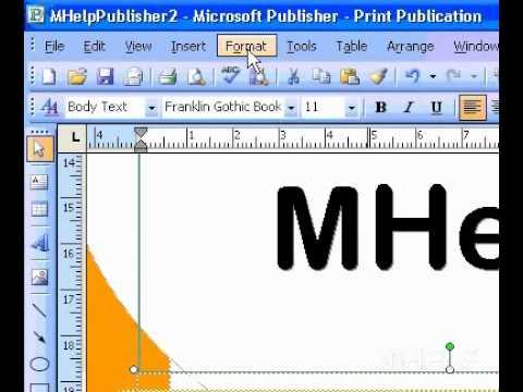 Microsoft Office Publisher 2003 Uygun El İle Bir Metin Kutusuna Metin