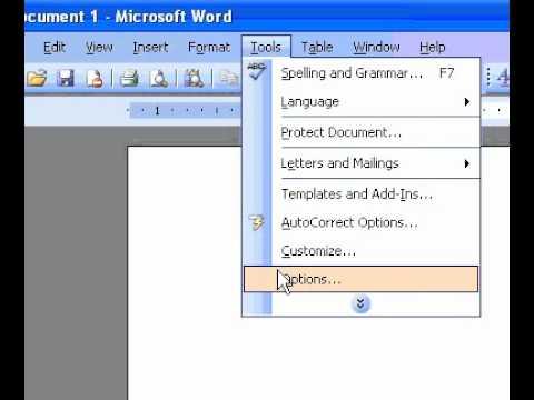 Microsoft Office Word 2003 Varsayılan Ölçü Birimini Değiştirme