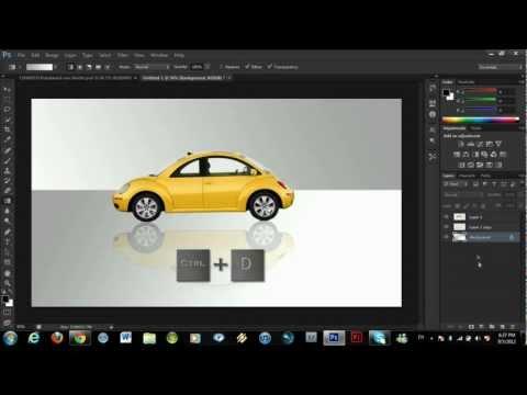 Nasıl Bir Şey Photoshop Cs6 Kullanarak Bir Yansıma Yapmak (Çok Kolay Bir Şekilde!!)