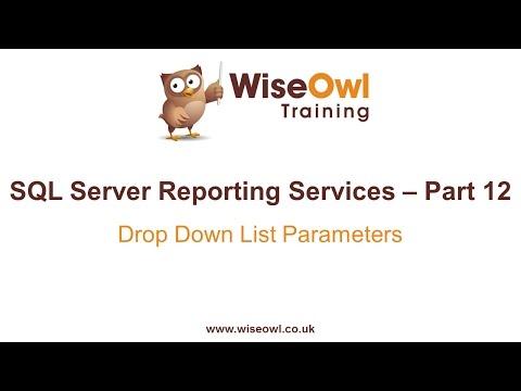 Reporting Services (Ssrs) Bölüm 12 - Damla Aşağı Liste Parametreleri