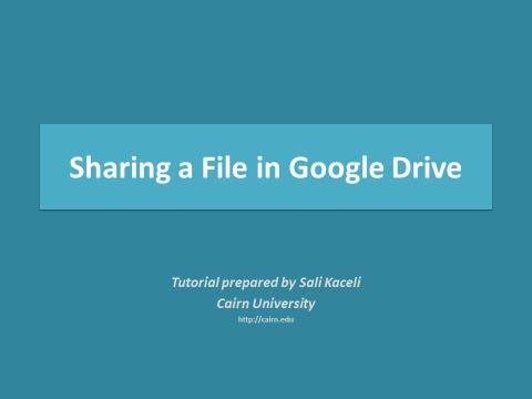 Google Sürücü Veya Google Dokümanlar Bir Dosya Paylaşımı