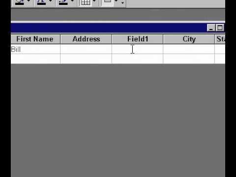 Microsoft Office Access 2000 Ekleyerek Bir Alan