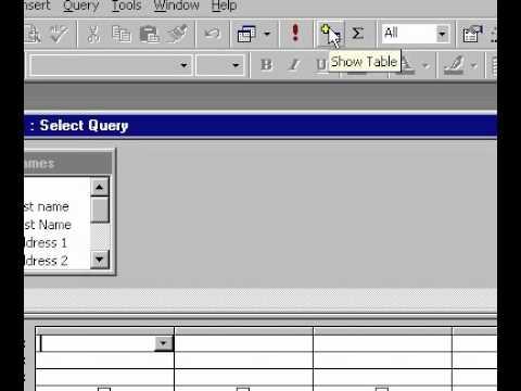Microsoft Office Access 2000 Oluşturma Tasarım Görünümünde Bir Sorgu