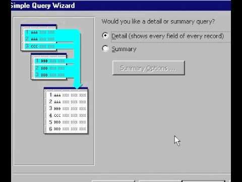 Microsoft Office Access 2000 Oluşturmak Basit Sorgu Sihirbazı'nı Kullanarak Sorgu Bir