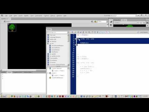 Yeni Başlayanlar Bölümünün 014 - Actionscript 3 Ağaç Sprite Ekleme Döngüler İçin Flash Cs6 Rehberler