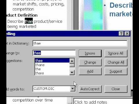 Microsoft Office Powerpoint 2000 Kullanarak Sözlük