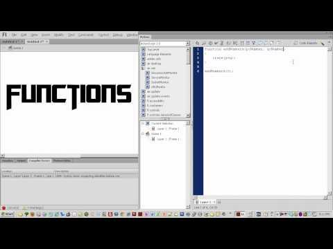 Yeni Başlayanlar Bölümü 016 - Actionscript 3 İşlevleri Bölüm 1 İçin Flash Cs6 Rehberler