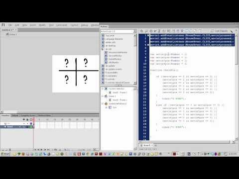 Yeni Başlayanlar Payına 015 - Actionscript 3 Tic Tac Toe Oyunu Flash Cs6 Rehberler