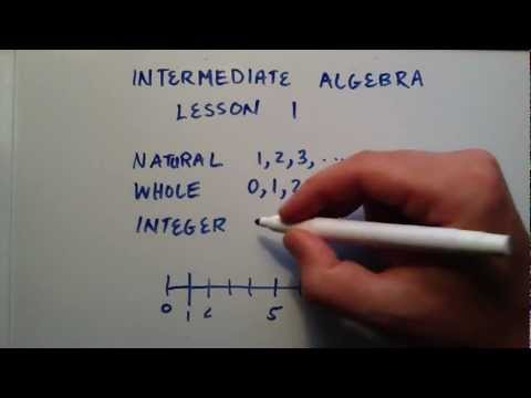 Doğal Sayılar, Tam Sayılar Ve Tam Sayılar, Ara Cebir, Ders 1