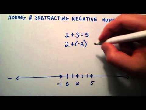 Ekleme Ve Çıkarma Negatif Sayılar, Ara Cebir, Ders 2