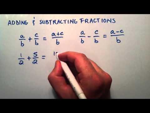 Ekleme Ve Subtracting Kesirler, Ara Cebir, Ders 6