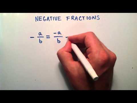 Kesirler, Ara Cebir, Ders 5 Negatif