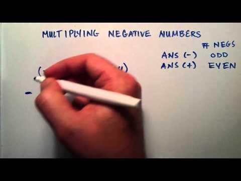 Negatif Sayılar, Ara Cebir, Ders 3 Çarpmayı