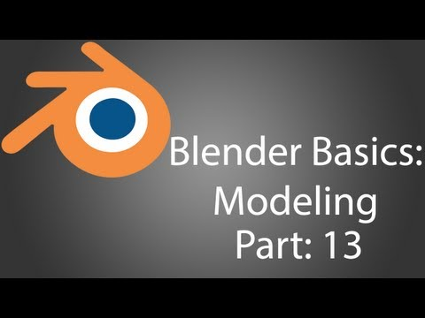 Blender Temelleri-Modelleme Tabanca Bölüm 13