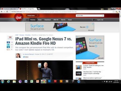 İpad Mini Vs Google Nexus 7 Vs Kindle Fire Hd