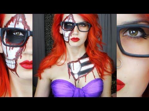 Zombi Hipster Ariel - Yüksek Hız Cadılar Bayramı Makyaj | Benimle Hazır Olun