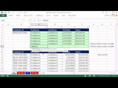Excel Sihir Numarası 976: Excel İki Şekilde Arama - 11 Örnekler (2 Yönlü Arama)