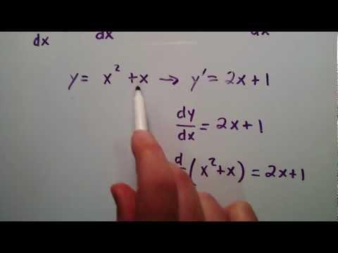 D/dx Ve Dy/dx Arasındaki Fark Nedir