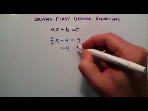 Nasıl Birinci Derece Denklemler Çözmek, Ax + B = C, Ara Cebir, Ders 37