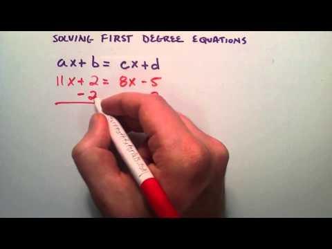 Nasıl Birinci Derece Denklemler Çözmek, Ax + B = Cx + D, Ara Cebir, Ders 38