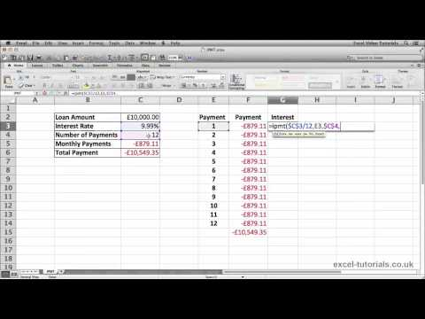 Microsoft Excel Eğitimi: Ipmt İşlevi