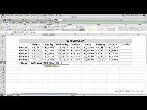 Microsoft Excel Eğitimi: Topla İşlevi