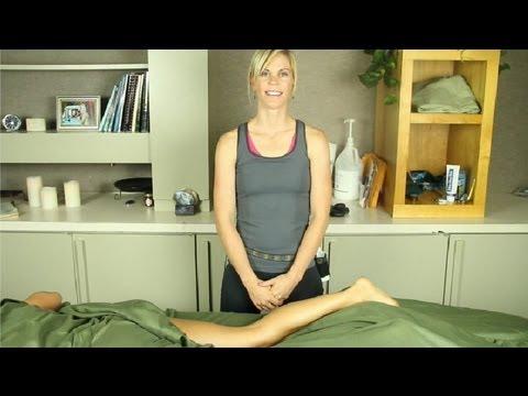 Bacak Ve Ayak Kasları Masaj: Terapi, Yağlar Ve Aromaterapi Masaj