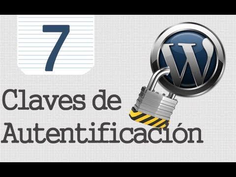 Seguridad Tr Wordpress - 7 - Anahtar Kelimeler De Autentificación