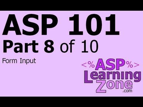 Active Server Sayfaları Öğretici Asp 101 Bölüm 08 10: Formu Giriş