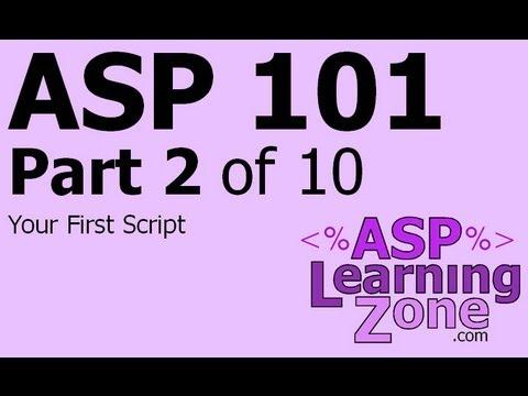 Active Server Sayfaları Öğretici Asp 101 Bölüm 10 02: İlk Senaryon