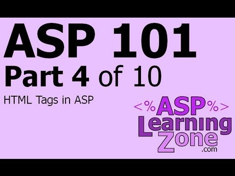 Active Server Sayfaları Öğretici Asp 101 Bölüm 10 04: Html Etiketleri Arasında Adp'de Çalıştı