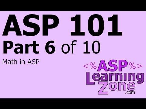 Active Server Sayfaları Öğretici Asp 101 Bölüm 10 06: Matematik Arasında Adp'de Çalıştı