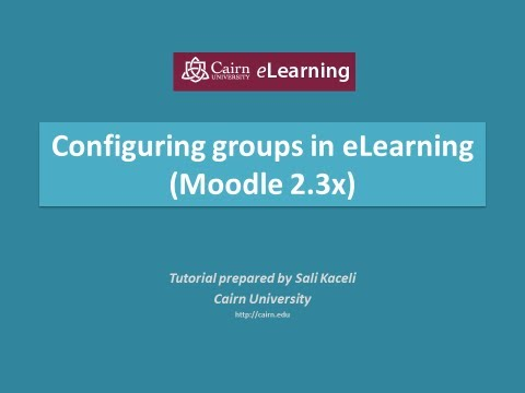 E-Öğrenme (Moodle 2.3) İçinde Doğru Bir Rota Grupları Yapılandırma