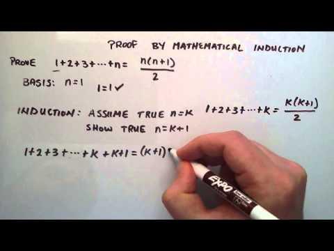 Kanıt Matematiksel İndüksiyon Tarafından-Nasıl Bir Matematiksel İndüksiyon Belgesi (Örnek 1)