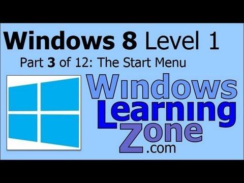 Microsoft Windows 8 Öğretici Bölüm 03 12: Başlat Menüsü
