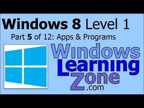 Microsoft Windows 8 Öğretici Bölüm 05 12: Uygulamalar Ve Programlar